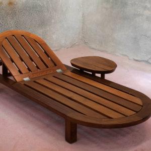 Κύμα ξύλινη ξαπλώστρα